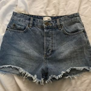 Amuse Society denim high waisted shorts
